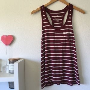 DONATING SOON AE Soft & Sexy Striped Tank Top